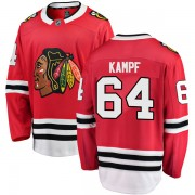 Fanatics Branded Chicago Blackhawks 64 David Kampf Red Breakaway Home Youth NHL Jersey