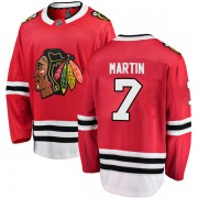 Fanatics Branded Chicago Blackhawks 7 Pit Martin Red Breakaway Home Youth NHL Jersey