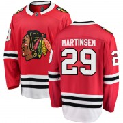 Fanatics Branded Chicago Blackhawks 29 Andreas Martinsen Red Breakaway Home Youth NHL Jersey