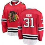 Fanatics Branded Chicago Blackhawks 31 Antti Niemi Red Breakaway Home Youth NHL Jersey