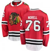 Fanatics Branded Chicago Blackhawks 76 Robin Norell Red Breakaway Home Youth NHL Jersey