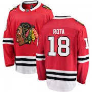 Fanatics Branded Chicago Blackhawks 18 Darcy Rota Red Breakaway Home Youth NHL Jersey