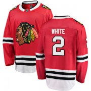 Fanatics Branded Chicago Blackhawks 2 Bill White White Breakaway Red Home Youth NHL Jersey