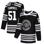 Adidas Chicago Blackhawks 51 Brian Campbell Authentic Black 2019 Winter Classic Men's NHL Jersey