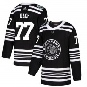 Adidas Chicago Blackhawks 77 Kirby Dach Authentic Black 2019 Winter Classic Men's NHL Jersey