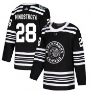 Adidas Chicago Blackhawks 28 Vinnie Hinostroza Authentic Black 2019 Winter Classic Men's NHL Jersey