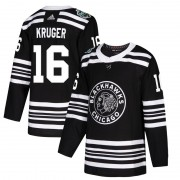 Adidas Chicago Blackhawks 16 Marcus Kruger Authentic Black 2019 Winter Classic Men's NHL Jersey