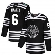 Adidas Chicago Blackhawks 6 Olli Maatta Authentic Black 2019 Winter Classic Men's NHL Jersey