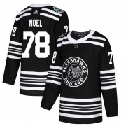 Adidas Chicago Blackhawks 78 Nathan Noel Authentic Black 2019 Winter Classic Men's NHL Jersey