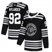 Adidas Chicago Blackhawks 92 Alexander Nylander Authentic Black 2019 Winter Classic Men's NHL Jersey