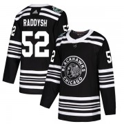 Adidas Chicago Blackhawks 52 Darren Raddysh Authentic Black 2019 Winter Classic Men's NHL Jersey