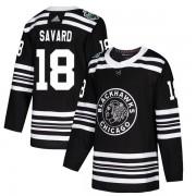 Adidas Chicago Blackhawks 18 Denis Savard Authentic Black 2019 Winter Classic Men's NHL Jersey