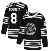 Adidas Chicago Blackhawks 8 Nick Schmaltz Authentic Black 2019 Winter Classic Men's NHL Jersey