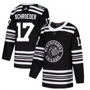 Adidas Chicago Blackhawks 17 Jordan Schroeder Authentic Black 2019 Winter Classic Men's NHL Jersey