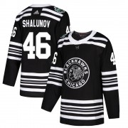 Adidas Chicago Blackhawks 46 Maxim Shalunov Authentic Black 2019 Winter Classic Men's NHL Jersey