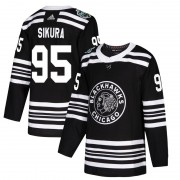 Adidas Chicago Blackhawks 95 Dylan Sikura Authentic Black 2019 Winter Classic Men's NHL Jersey