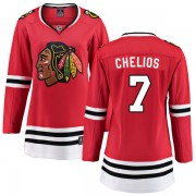 Fanatics Branded Chicago Blackhawks 7 Chris Chelios Red Home Breakaway Women's NHL Jersey