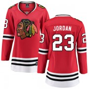 Fanatics Branded Chicago Blackhawks 23 Michael Jordan Red Home Breakaway Women's NHL Jersey
