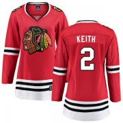 Fanatics Branded Chicago Blackhawks 2 Duncan Keith Red Home Breakaway Women's NHL Jersey