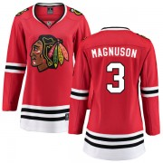 Fanatics Branded Chicago Blackhawks 3 Keith Magnuson Red Home Breakaway Women's NHL Jersey