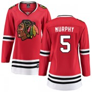 Fanatics Branded Chicago Blackhawks 5 Connor Murphy Red Home Breakaway Women's NHL Jersey
