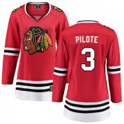 Fanatics Branded Chicago Blackhawks 3 Pierre Pilote Red Home Breakaway Women's NHL Jersey