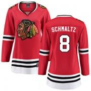 Fanatics Branded Chicago Blackhawks 8 Nick Schmaltz Red Home Breakaway Women's NHL Jersey