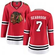 Fanatics Branded Chicago Blackhawks 7 Brent Seabrook Red Home Breakaway Women's NHL Jersey