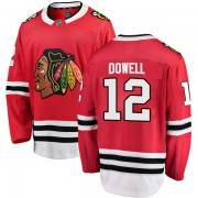 Fanatics Branded Chicago Blackhawks 12 Jake Dowell Red Breakaway Home Men's NHL Jersey