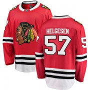 Fanatics Branded Chicago Blackhawks 57 Kenton Helgesen Red Breakaway Home Men's NHL Jersey