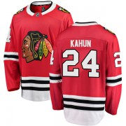 Fanatics Branded Chicago Blackhawks 24 Dominik Kahun Red Breakaway Home Men's NHL Jersey