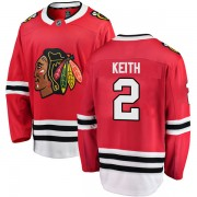 Fanatics Branded Chicago Blackhawks 2 Duncan Keith Red Breakaway Home Men's NHL Jersey