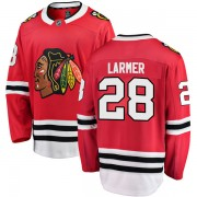 Fanatics Branded Chicago Blackhawks 28 Steve Larmer Red Breakaway Home Men's NHL Jersey