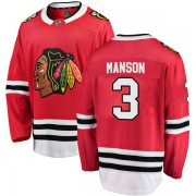 Fanatics Branded Chicago Blackhawks 3 Dave Manson Red Breakaway Home Men's NHL Jersey