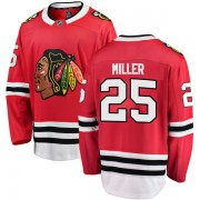 Fanatics Branded Chicago Blackhawks 25 Drew Miller Red Breakaway Home Men's NHL Jersey