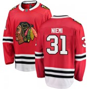 Fanatics Branded Chicago Blackhawks 31 Antti Niemi Red Breakaway Home Men's NHL Jersey