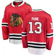 Fanatics Branded Chicago Blackhawks 13 CM Punk Red Breakaway Home Men's NHL Jersey