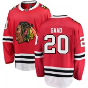 Fanatics Branded Chicago Blackhawks 20 Brandon Saad Red Breakaway Home Men's NHL Jersey