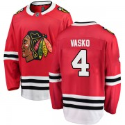 Fanatics Branded Chicago Blackhawks 4 Elmer Vasko Red Breakaway Home Men's NHL Jersey