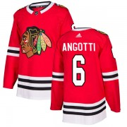 Adidas Chicago Blackhawks 6 Lou Angotti Authentic Red Home Men's NHL Jersey