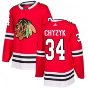 Adidas Chicago Blackhawks 34 Bryn Chyzyk Authentic Red Home Men's NHL Jersey