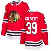 Adidas Chicago Blackhawks 39 Dennis Gilbert Authentic Red Home Men's NHL Jersey