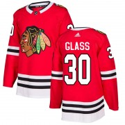 Adidas Chicago Blackhawks 30 Jeff Glass Authentic Red Home Men's NHL Jersey