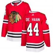 Adidas Chicago Blackhawks 44 Calvin de Haan Authentic Red Home Men's NHL Jersey