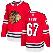 Adidas Chicago Blackhawks 67 Tanner Kero Authentic Red Home Men's NHL Jersey