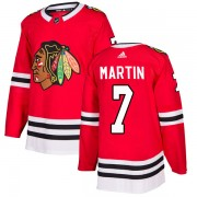 Adidas Chicago Blackhawks 7 Pit Martin Authentic Red Home Men's NHL Jersey