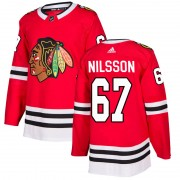 Adidas Chicago Blackhawks 67 Jacob Nilsson Authentic Red Home Men's NHL Jersey