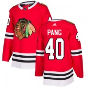 Adidas Chicago Blackhawks 40 Darren Pang Authentic Red Home Men's NHL Jersey