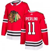 Adidas Chicago Blackhawks 11 Brendan Perlini Authentic Red Home Men's NHL Jersey