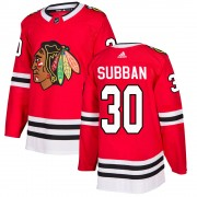 Adidas Chicago Blackhawks 30 Malcolm Subban Authentic Red ized Home Men's NHL Jersey